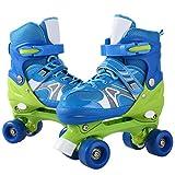 ANCHEER Adjustable Kids Roller Skates PVC Wheel Triple Lock Mesh Breathable Rollerblades For Beginners/Toddlers/Children/Boys/Girls (blue, US 2-5)