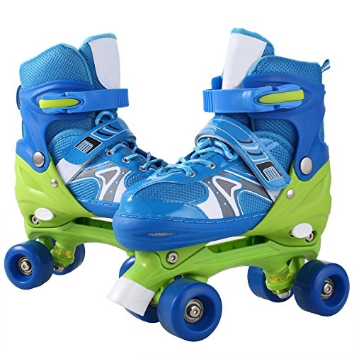ANCHEER Inline Skates Kids Roller Skates for Women Girls Quad Skate Adjustable Boys Kid Toddlers Youth Outdoor Size 12-8 Christmas Birthday Gifts