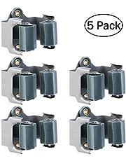 OUNONA 5 unidades Colgador Escobas adhesivo soporte escobas pared de Acero Inoxidable