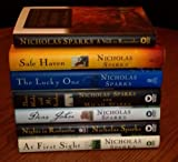 Nicholas Sparks 7 Book Set (Safe Haven ~ A Walk to Remember ~ Three Weeks with my Brother ~ A First Sight ~ Dear John ~ Nights in Rodanthe ~ The Lucky One)