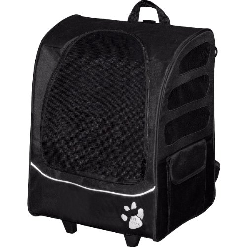 Pet Gear I-GO2 Plus Traveler Rolling Backpack Carrier for Small Cats and Dogs 51wuIlTIDBL