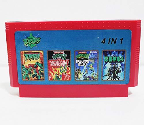 BrotheWiz 60 pin 8 bit game Super HIK 4 In 1 (Ninja Turtles 1 2 3 4 ) Best selling 8 Bit 60 Pin Game Card (List Of Best Selling Nintendo Games)