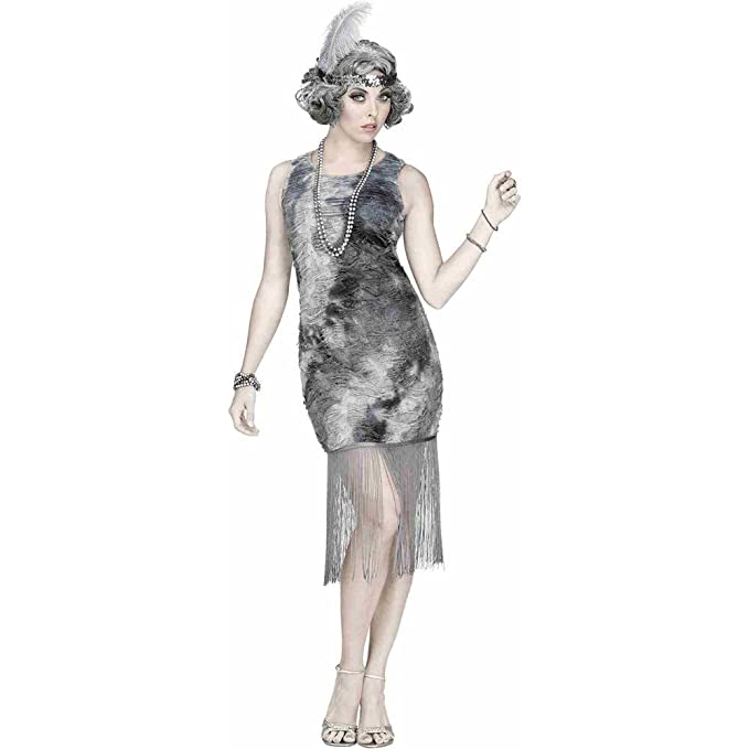 Roaring 20s Costumes- Flapper Costumes, Gangster Costumes Womens Ghostly Flapper Costume $48.29 AT vintagedancer.com
