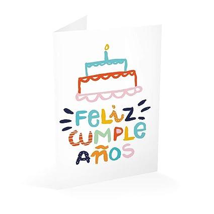 Erik Editores- Tarjeta Felicitacion Tarta Feliz Cumpleaños ...