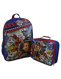 Nickelodeon Paw Patrol Kid's Large Backpack & Matching Lunchbox Set