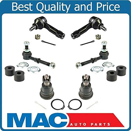 Ball Joints Tie Rods /& Sway Bar Links 6pc Kit for Nissan Sentra 1.8L 2.5L 02-06