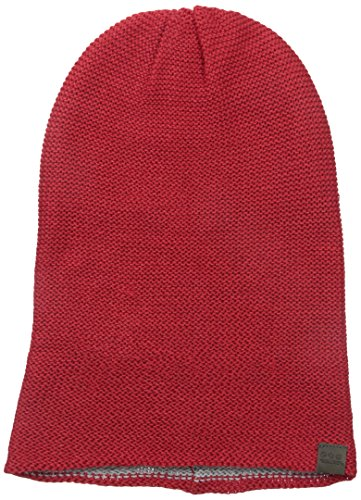 Threads 4 Thought Women's Recycled Reversible Slouch Beanie, Poppy Red/Athletic Grey, One Size