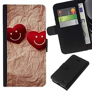 All Phone Most Case / Oferta Especial Cáscara Funda de cuero Monedero Cubierta de proteccion Caso / Wallet Case for LG OPTIMUS L90 // Love Happy Couple