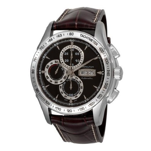 Hamilton H32816531 Lord - Reloj de pulsera para hombre, correa de piel, cronógrafo, automático, color marrón: Amazon.es: Relojes