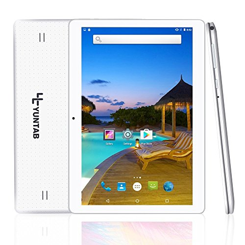 Yuntab K107 10.1 Inch Quad Core CPU MT6580 Cortex A7 Android 5.1,Unlocked Smartphone Phablet Tablet PC,1G+16G,HD 800x1280,Dual Camera,IPS,WiFi,G-sensor,GPS,Support 3G Dual SIM Card(White) by Yuntab (Image #8)