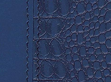 Exacompta 187643E Baby-Croco Eurotime 18S Semainier de bureau spiralé avec répertoire Bleu marine Jan à Déc - Année 2019