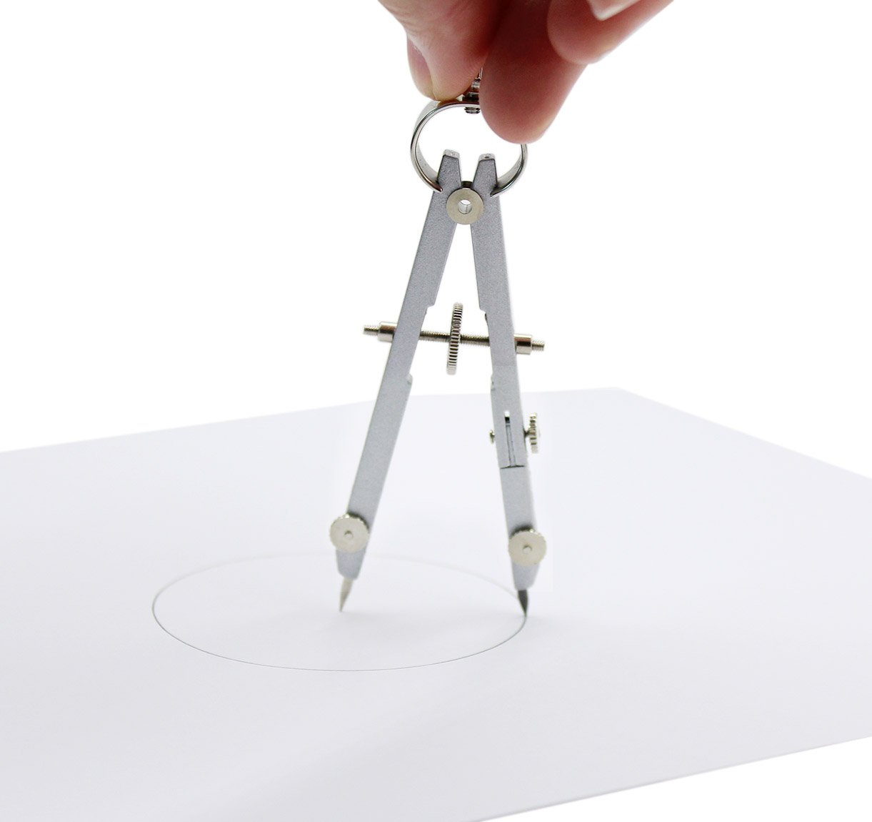 Set of 5, Stainless Steel Circle Drawing Compasses Geometry Sets Math Drafting Dividers Tool Set by Naovio (Image #4)