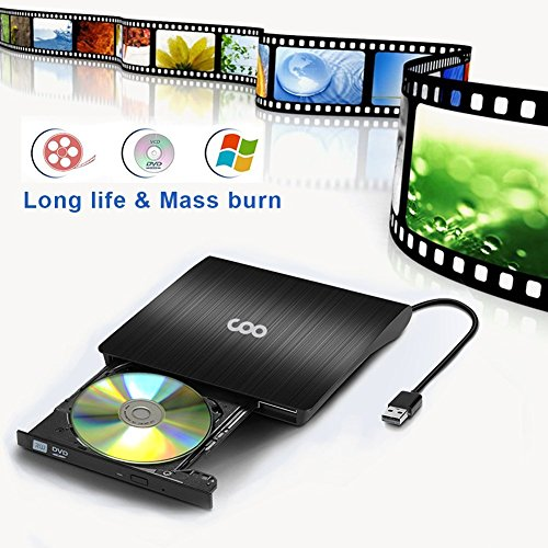 DVD Drive USB 3.0 Portable External CD DVD Drive Slim CD/DVD-RW Writer Burner High Speed Data Transfer for Laptop Notebook PC Desktops Support Windows/Vista/7/8.1/10/ Mac OSX by COO (Image #3)