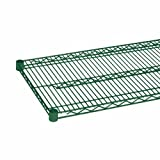Apex 24''x60'' NSF Green Epoxy Coated Wire Shelving - Case of 2 Pcs - Heavy Duty Commercial Grade - Fits Metro, Thunder Group, Eagle, Regency, Advanced Tabco, John Boos, Royal Industry, Winco, Focus