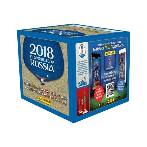 2018 Panini World Cup Russia Soccer Sticker box (50 pk, 250 stickers)