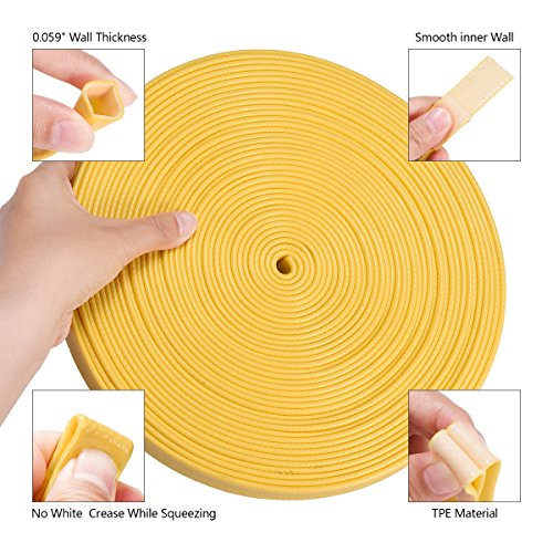 """50ft Garden Hose with Spray Nozzle, Solid Brass Fittings - 3/4""""Connector, Special Quick Disconnect Fittings(Non-Standard), Faucet Adapter and Rubber Washers Included (Yellow)"""