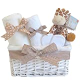 Mr Giraffe Unisex Gift Hamper Basket Boy or Girl/Baby Shower/Baby Giraffe New Born Present/Gifts for Babies/FAST DISPATCH