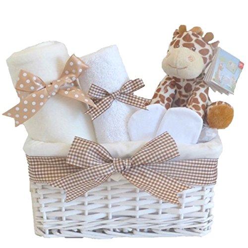 Baby Girl Giraffe Small Gift Basket Hamper Baby Shower