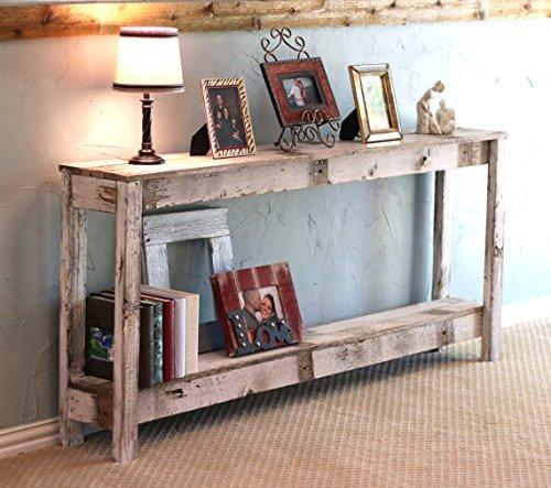 White Farmhouse 60 Inch Sofa Table For Sale