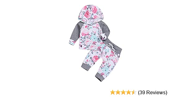f1a8118c6 Amazon.com  Newborn Infant Baby Girl Kids Clothes Outfits Set ...