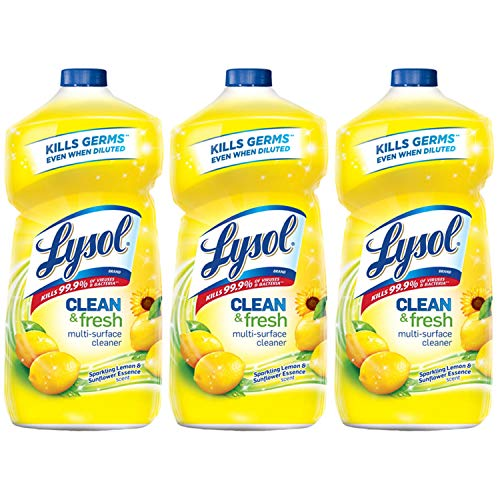 Lysol Clean & Fresh Multi-Surface Cleaner, Lemon & Sunflower, 120oz - Floor Soap
