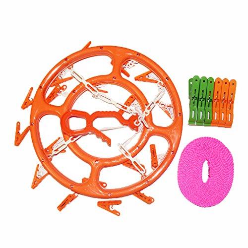 E2shop Plastic Clip & Drip Laundry Clothes Houshold Round 18