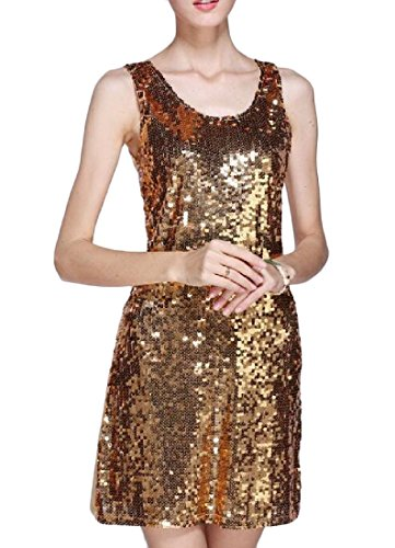 Sequin Women Cocktail Coolred Solid Bodycon Dresses Sparkly golden Dress qwFS6wt