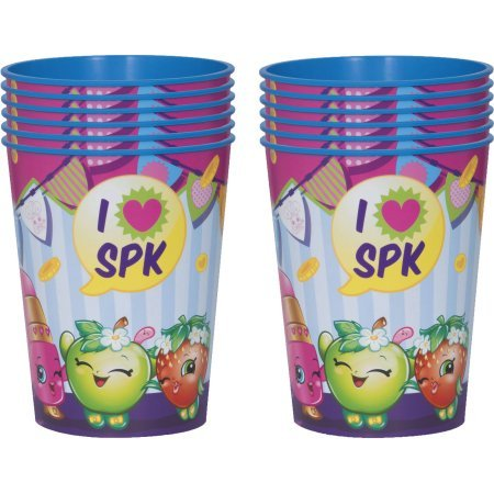 Package of 12 Shopkins Plastic Cups