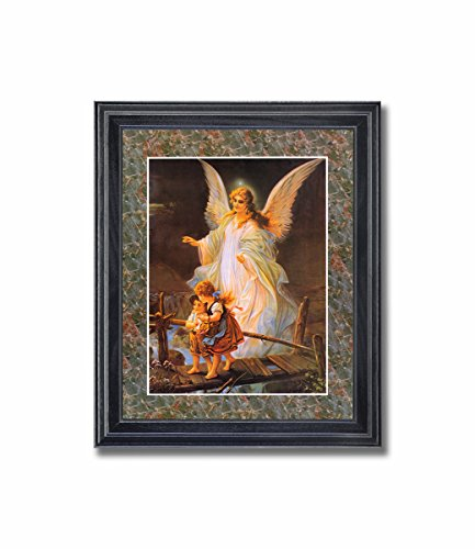- Guardian Angel #3 Children Bridge Religious Wall Picture Framed Art Print