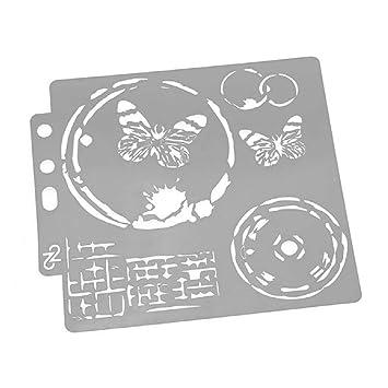Hothap Plantillas de Mariposas para troqueladora para Pintar, Aprender y Decorar la Pared: Amazon.es: Juguetes y juegos
