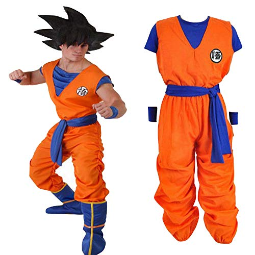 Dragon Ball Costume,Adult Goku Costume,Son Goku Unisex Costume (Medium) Orange/Blue -