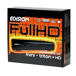 Edision mini triton + HD - Decodificador de TDT Full HD (SCART, HDMI, USB, PVR para grabación porgramada, Timeshift, Mediaplayer)