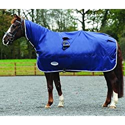 Weatherbeeta Rain Sheet - Size:Cob Color:Navy/Grey/White