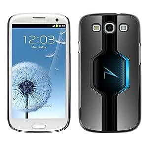 LECELL -- Funda protectora / Cubierta / Piel For Samsung Galaxy S3 I9300 -- Blue Glow --