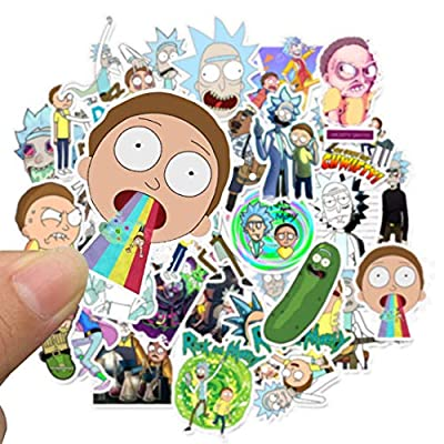 KULA Remarkable Rick and Morty Funny Sticker Decal for Car Laptop Bicycle Motorcycle Notebook Waterproof Stickers(None 1): Kitchen & Dining