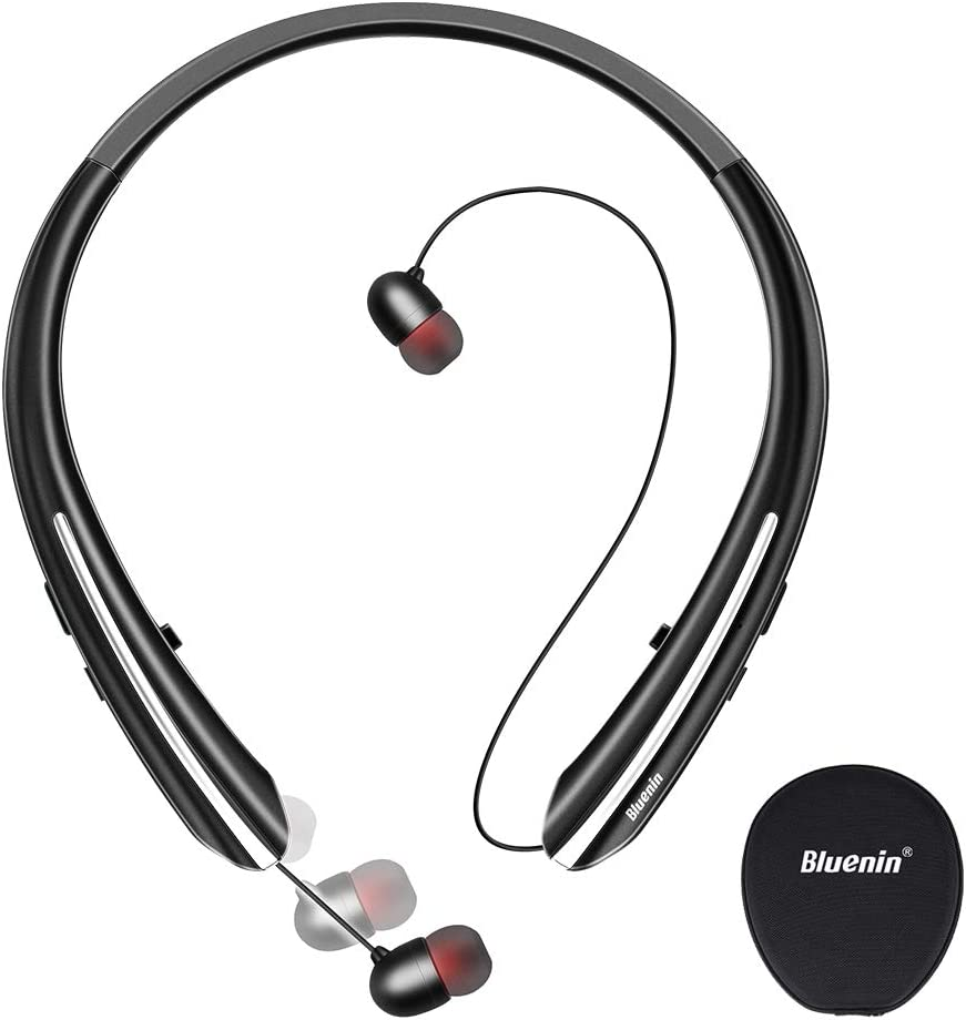 Bluenine Ergonomic Neckband Bluetooth Headphones for running and the best for the sports this is the best neckband headphones for the every games
