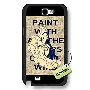Disney Cartoon Movie Pocahontas Frosted Phone Case & Cover for Samsung Galaxy Note 2 - Black