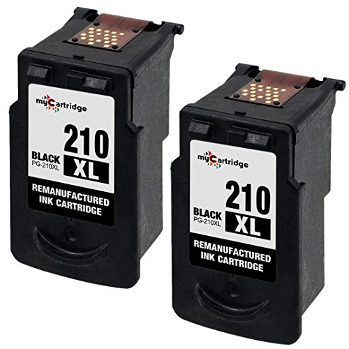 myCartridge Remanufactured PG-210XL PG210XL Black Ink Cartridge With Ink Level Display ( 2 Black )