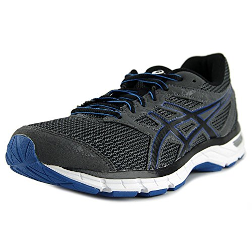ASICS Men's Gel-Excite 4 Running Shoe, Carbon/Black/Blue, 9 M US