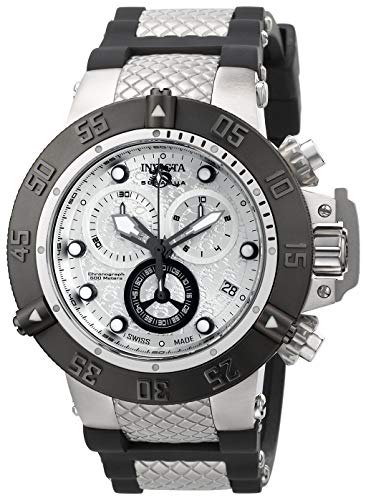 Invicta Men's Subaqua Quartz Watch with Stainless-Steel Strap, Silver, 29 (Model: 90115)
