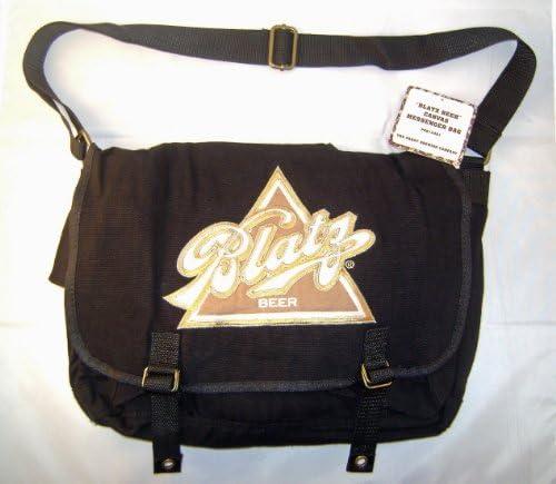 Blatz Beer Black Canvas Messenger Bag