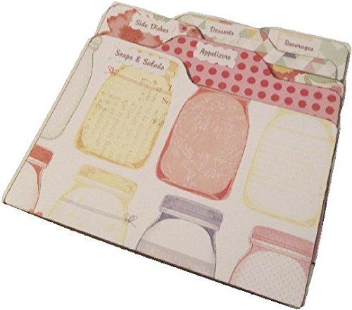 (Recipe Box Tab Dividers, Mason Jars, 3.5 x 5 (5 x 3.5) Set of (6) STURDY Chipboard, Made to)
