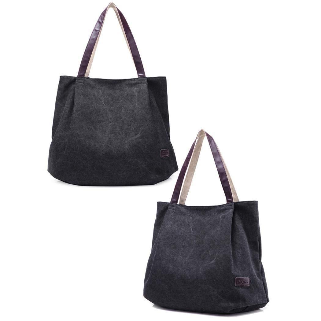cietact Sac /à Main en Toile Femme,Shoulder Bag Sac /à Pain en Toile Sports et Loisirs pour Femmes Filles Coll/ège
