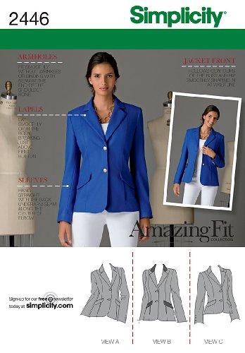 - Simplicity Amazing Fit Pattern 2446 Misses Miss Petite Lined Jacket Size 6-8-10-12-14