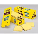 """Post-it Super Sticky Notes, 3"""" x 3"""", Canary Yellow Colour, 24 Pads/Pack (Cabinet Pack)"""