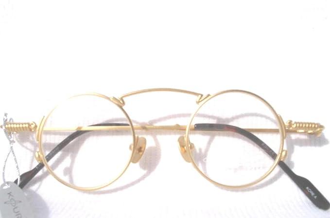 Amazoncom Gold 1920s Style Small Round Koure Eyeglasses Model