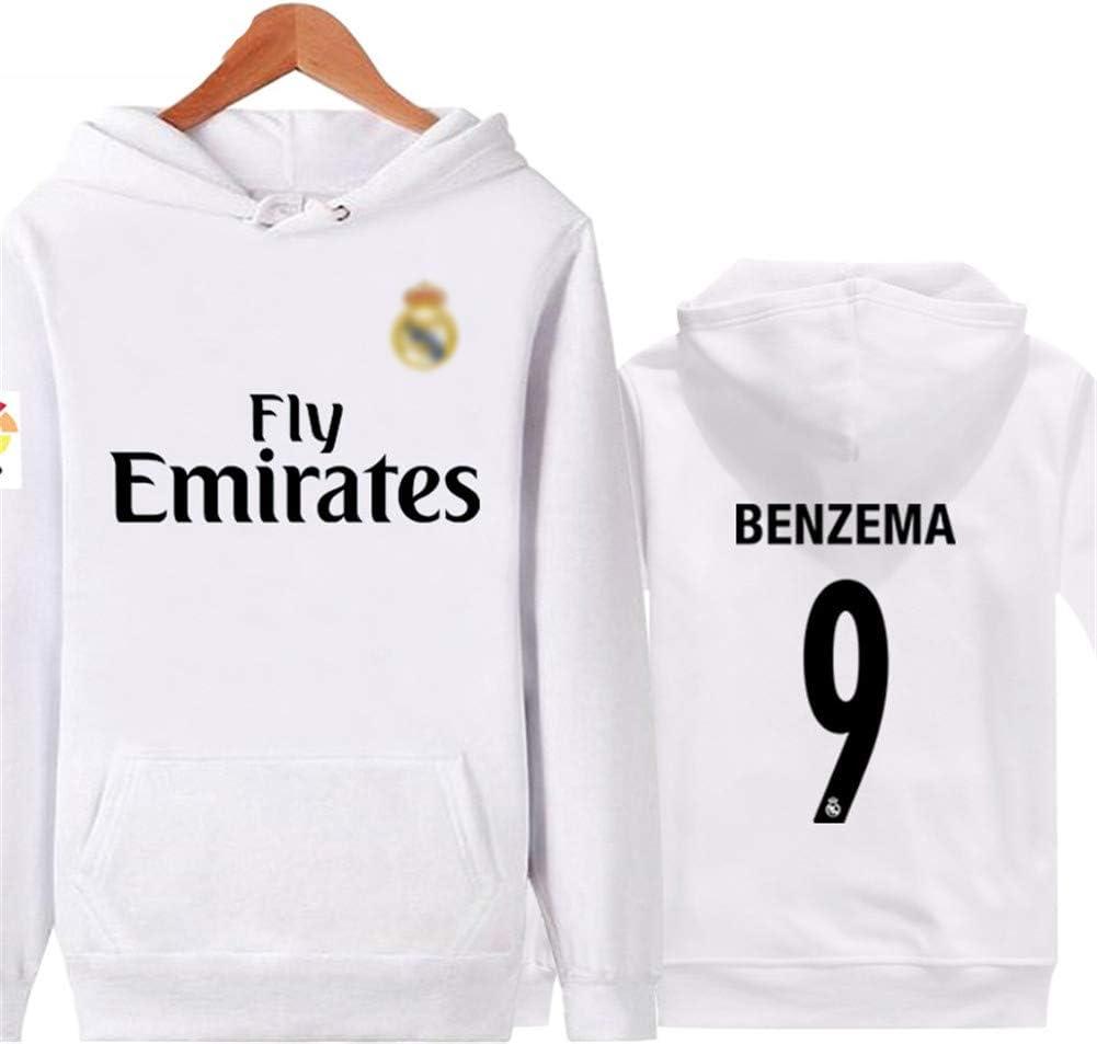 Sudadera Real Madrid No.7 C Ronaldo Soccer Club Round Cuello Regalo de fútbol de Manga Larga para Hombres y Mujeres Niños Niñas