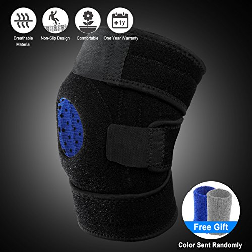 Knee Brace, Breathable Knee Support Prevent Knee Joint Pain Torn Meniscus, Compression Knee Pads Fits Men And Women, Fitness Knee Brace Adjustable Straps Working Out Running Cycling Hiking Basketball by YALIDE