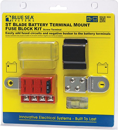 Blue Sea Systems ST-Blade Battery Terminal Mount Fuse Block (Terminal Fuses Fuse Terminal)