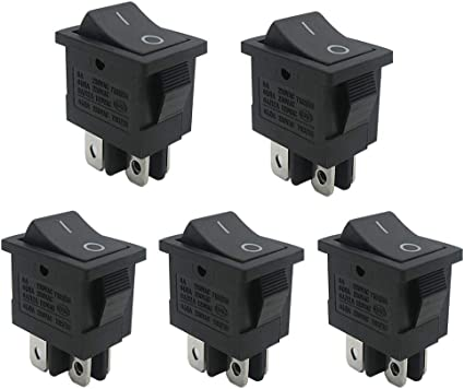 10Pcs AC 15A//250V 20A//125V 3 Pin Mini SPST Toggle Switch AutoEC On Off Rocker Switch Use for Car Auto Boat Household Appliances